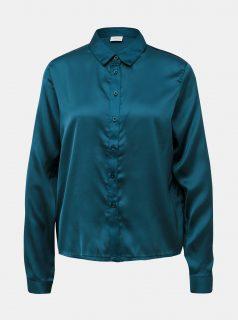 Petrolejová saténová košile Jacqueline de Yong Fifi