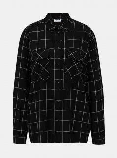 Černá kostkovaná košile Noisy May Erik