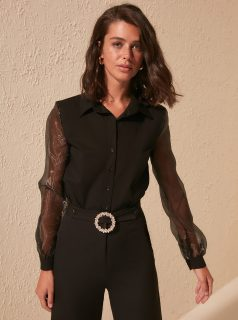 Černá košile Trendyol