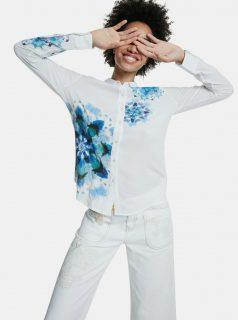Modro-bílá vzorovaná košile Desigual