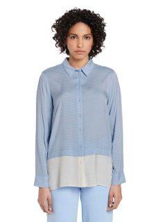Modrá dámská pruhovaná volná košile Tom Tailor