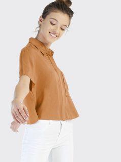 Hnědá dámská košile Alcott