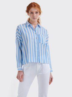 Bílo-modrá dámská pruhovaná košile Alcott