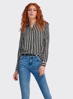 Bílo-černá dámská pruhovaná košile Alcott