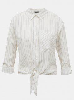 Bílá pruhovaná krátká košile TALLY WEiJL