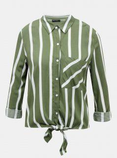 Zelená pruhovaná krátká košile TALLY WEiJL