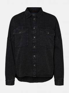 Černá džínová košile Noisy May Rica
