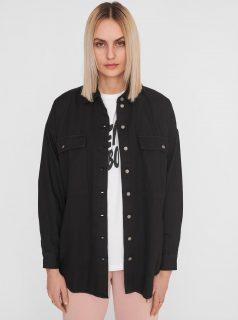 Černá džínová košile Noisy May Flanny