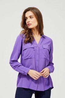 Moodo fialová propínací košile