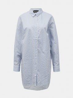 Světle modrá pruhovaná dlouhá košile Pieces Sheridan
