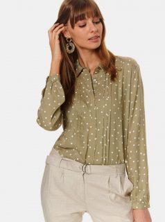 Khaki puntíkovaná košile TOP SECRET
