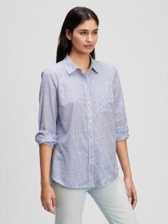 Modrá dámská košile stripe t-shirt