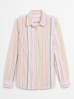 Barevná dámská košile print long sleeve shirt
