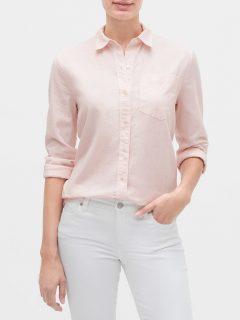 Růžová dámská košile GAP boyfriend shirt