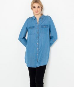 Modrá volná džínová košile CAMAIEU
