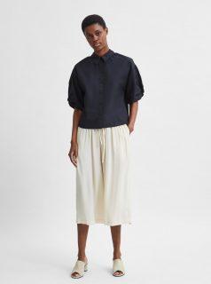Černá krátká košile Selected Femme Lilo