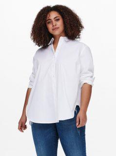 Bílá košile s prodlouženou zadní částí ONLY CARMAKOMA Katrine