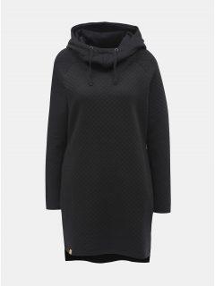 Černé mikinové šaty s kapucí a kapsami LOAP Dinqua