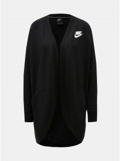 Černý dámský mikinový kardigan s kapsami Nike Rally
