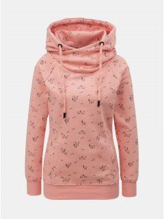 Růžová vzorovaná mikina s kapucí ONLY Irina