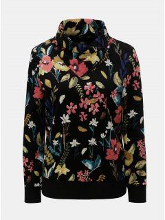 Černá dámská květovaná mikina ONLY Kamilla