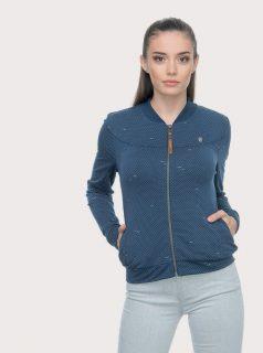 Tmavě modrá dámská puntíkovaná mikina Ragwear Kenia