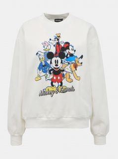 Bílá mikina s potiskem TALLY WEiJL Disney Mickey