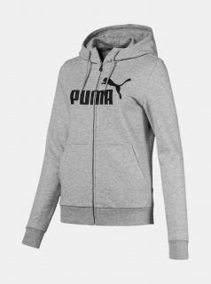 Šedá dámská mikina s kapucí Puma