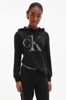 Calvin Klein černá mikina L/S Sweatshirt s kapucí