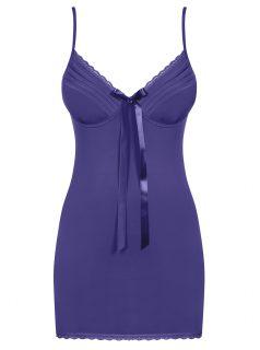 Set noční košilky a tang v fialové barvě Obsessive Blackardi chemise