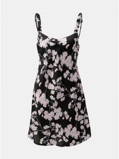 Černá květovaná noční košilka M&Co Purple