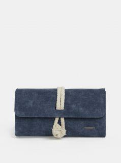 Tmavě modrá velká peněženka Roxy Wall Clock