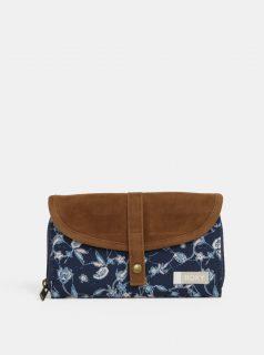 Modro-hnědá vzorovaná peněženka Roxy Carribean