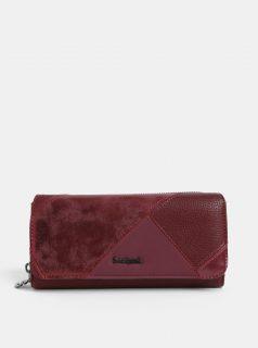 Vínová koženková prošívaná peněženka Desigual Maria