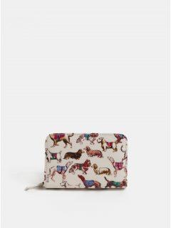 Krémová dámská peněženka s motivem psů Cath Kidston