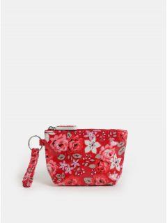 Červená holčičí květovaná peněženka na mince Cath Kidston