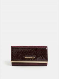 Vínová velká peněženka s detaily ve zlaté barvě Bessie London