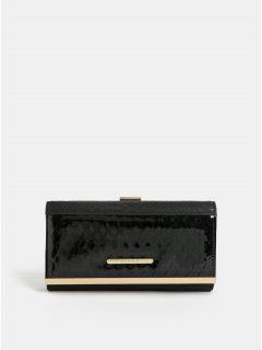 Černá velká peněženka s detaily ve zlaté barvě Bessie London