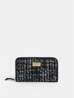 Tmavě modrá velká žíhaná peněženka Bessie London
