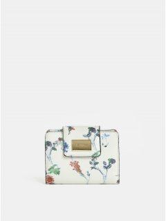 Krémová květovaná peněženka Bessie London