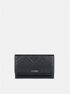 Černá vzorovaná peněženka Roxy Juno