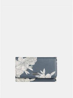 Khaki květovaná peněženka Roxy Juno