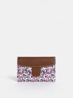 Hnědo-bílá dámská květovaná peněženka Meatfly Mia