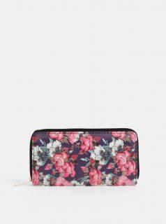 Modro-růžová dámská květovaná peněženka Haily´s Ciara