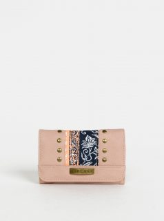 Růžová dámská vzorovaná peněženka Rip Curl Wild Flower