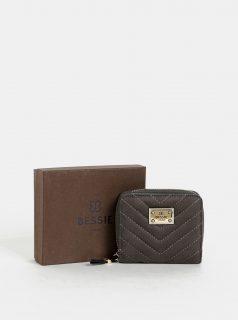 Šedo-modrá peněženka v semišové úpravě Bessie London