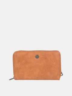 Hnědá vzorovaná peněženka Roxy