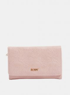 Růžová vzorovaná peněženka Roxy