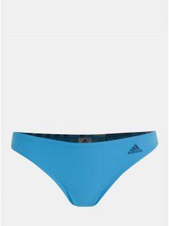 Modrý dámský vzorovaný spodní díl plavek adidas Performance Hipster