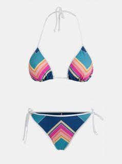 Modré dámské vzorované dvoudílné plavky Rip Curl